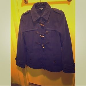Blue pea coat